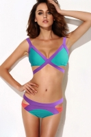 Green Strappy Cutout Bikini Swimsuit