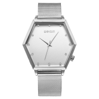 WeiQin Quartz Polygonal Style Women Watch - Silver
