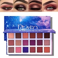 Eyeshadow Palette  18 Colors Matte Eyeshadow Palette Glitter Eyeshadow Combination Smoky with Shimmer Eyeshadow Starry Sky Makeup Palette Cosmetics