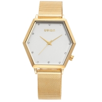 WeiQin polygonal Style Women Watch - Gold