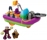 Ninja turtle doll with a boat