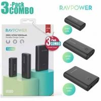 RAVPower RP-PB181  3350mAh  6700mAh  10050mAh  3-Pack Portable Charger Black Offline