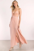 OPPOSITES ATTRACT BLUSH LACE MAXI DRESS ROSS