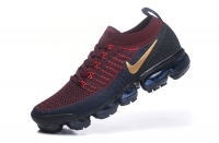 Mens Nike Air VaporMax Flyknit 2. 0 W Running Shoes Burgundy Gold