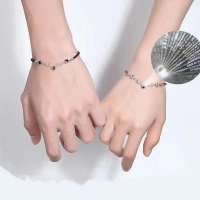 couple Bracelet - with stone I love you in 100 languages