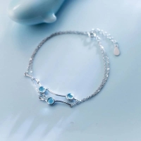 925 silver bracelet two layers