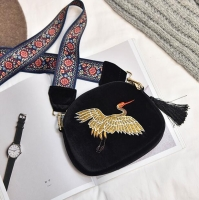 Women s handbag contains a bird shape chamois cloth