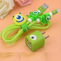 Charger protection and headphones 5 pieces green