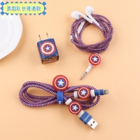 Charger and headphone protection 5 pieces captain America