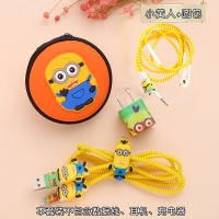 Protection sticker and headphones 6 pieces Minions