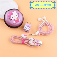 Stiker protect the charger and headphones 6 pcs Hello Kitty