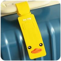 Card writing on luggage