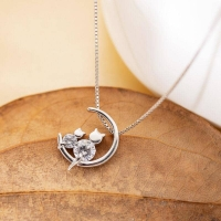 925 Sterling Silver Necklace - Cat