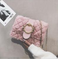 Women s handbag fur fabric