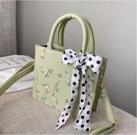 Women s handbag contains floral pattern