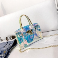 Women s handbag small transparent transparent shiny