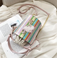Women handbag contains beautiful inscriptions