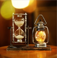 Hourglass with small light