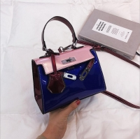 Women s handbag shiny leather