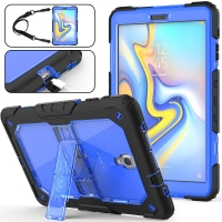 Clear Protective Case with Shock Resistant Multi-layer Stand  Fits Samsung Galaxy Tab A 10.5 up to 10.5 Inch / Blue