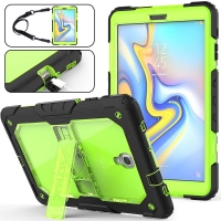 Clear Protective Case with Shock Resistant Multi-layer Stand  Fits Samsung Galaxy Tab A 10.5 up to 10.5 Inch / Green