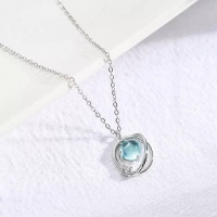 925 Sterling Silver Necklace - Circle