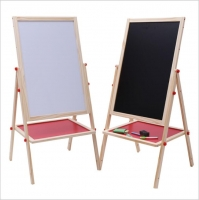 Wooden blackboard for children two faces