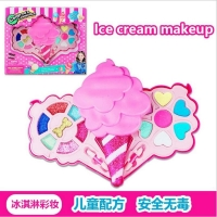 Set for children makeup in ice cream shape
