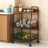 Storage Rack - Multi-use 3 layers with wheels in a simple and practical design