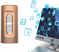 GUORUI 3-in-1 Flash Drive for iPhone / Android / PC / iPad with 16GB Dual Storage