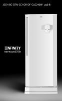 enfinity-door refrigerator alone with an 8-foot refrigerator