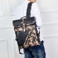 Men s faux leather backpack