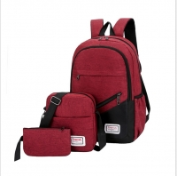 Set canvas backpack