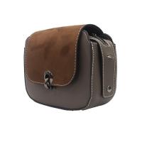 Chamois hand bag with lock
