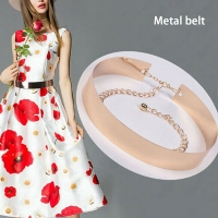 Metal belt for women measuring 6 cm