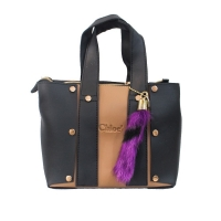 Two colored hand bag