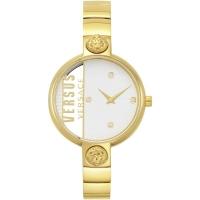 Womens Wristwatch VERSUS Versace RUE DENOYEZ VSP1U0219 Steel Golden Swarovski