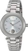 Versus by Versace Women s Brick Lane Combo Box Quartz Watch with Stainless-Steel Strap  Silver  177  Model  VSP712018