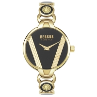 Versus by Versace Women s Saint Germain Quartz Strap  Gold  14 Casual Watch  Model  VSPER0319