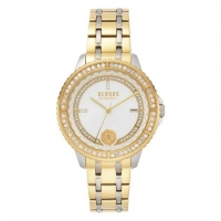 Versus by Versace Montorgueil Women s VSPLM0519 White Dial Two Tone Tone Stainless Steel Bracelet Watch