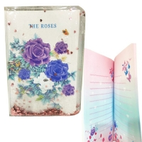 Water diary notebook with sequins