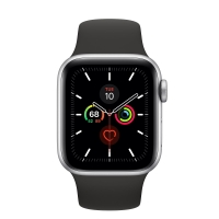 Apple Watch Series 5 GPS 44mm Silver Aluminum Case With Sport Band - Original Box