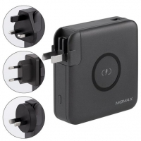 Wireless portable charger  with changeable plugs