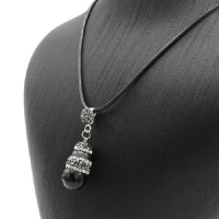 Women s necklace is a natural stone