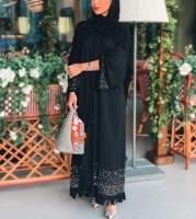 Beaded abaya wi