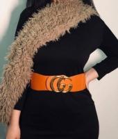 Leather belt for women