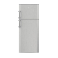 Beko refrigerator - 18 feet - grey color