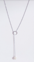 ZIRCON NECKLACE WITH A DISTINCTIVE DESIGN. SILVER COLOR PLATED