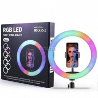 MJ33 33cm 13-inch RGB LED Ring Light with Phone Clip Phone Video Beauty Fill Light