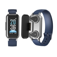 Lemfo T89  Smart Bracelet with Bluetooth Headset - Blue